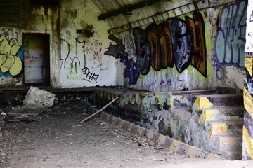 Abandoned military missile rocket base from cold war