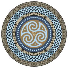 Round Celtic Design. Ancient Celtic magic mandala