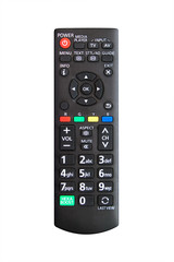 Remote control for television with white isolate background