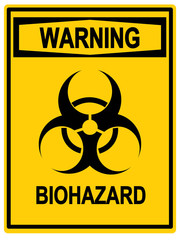 Biohazard symbol sign, Warning.