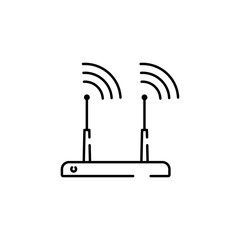 modern router icon, pictogram isolated on white background