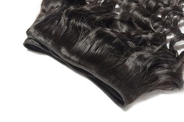 unfoldednloose wavy black human hair weaves extensions bundle