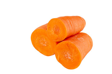Carrots isolated on white background With clipping path