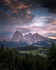 Abendstimmung in den Dolomiten