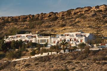 Residential houses in Lefkos on Karpathos in Greece