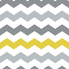 Simple seamless pattern of gray and yellow zigzags