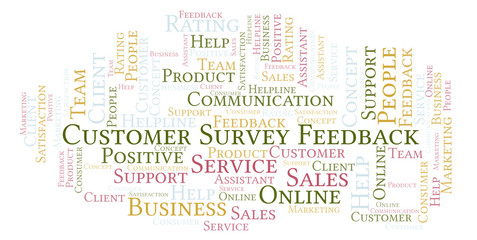 Customer Survey Feedback word cloud.