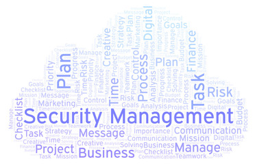 Security Management word cloud, made with text only  - Buy