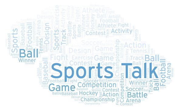 Sports Talk word cloud.