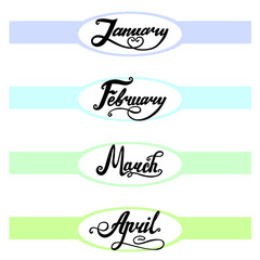 template of top banner for your own calendary design part 1