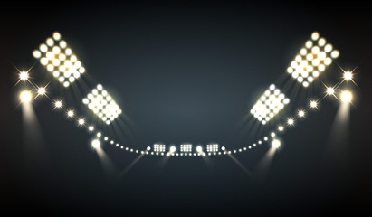 Stadium Floodlights Background