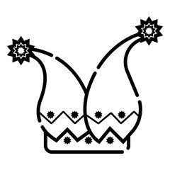 Jester's cap icon vector illustration