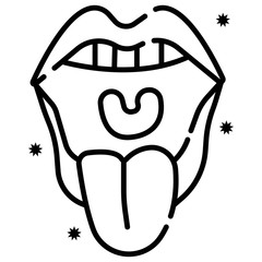 Throat oral icon vector illustration