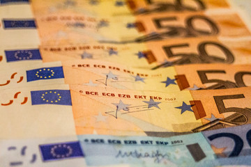 A composition of euro banknotes providing great options to be used for illustrating subjects as business, banking, media, etc.
