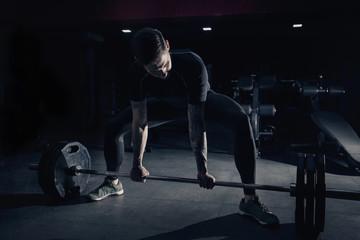 Bodybuilder Doing Deadlift