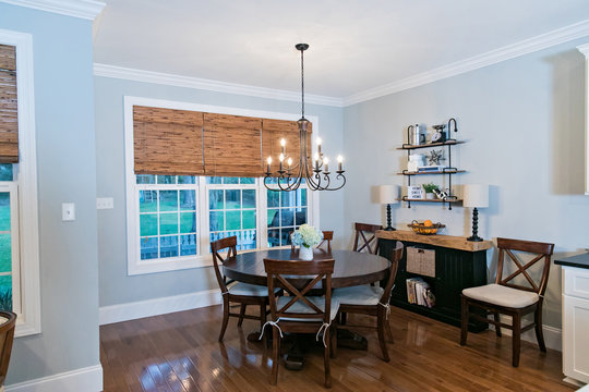 Contemporary Clean Dining Room in New House