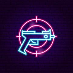 Gun Gaming Neon Sign