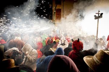 """Correfoc"" traditional festival of Catalonia"