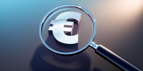 Lupe mit Eurozeichen