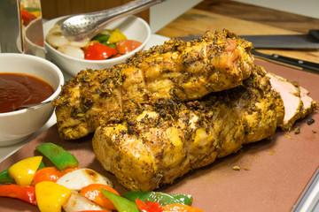 roast beef sirloin on cutting board