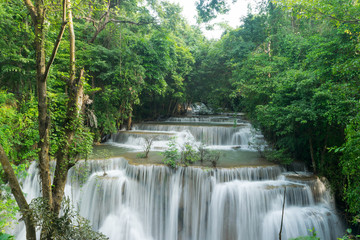 Waterfalls and jungle in tropical forest in Thailand
