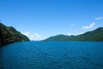 Sky mountain on Khao Laem Dam,Natural view in the valley