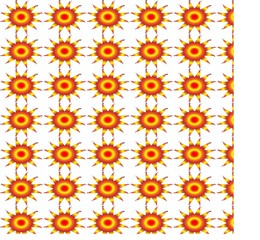 pattern background of repeated sun designs