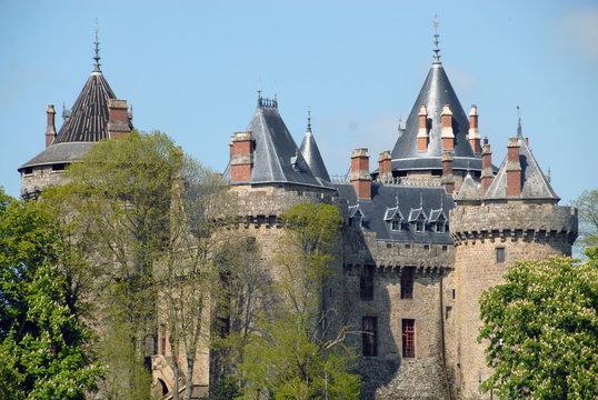 Ville de Combourg, Château de Combourg classé Monument Historique depuis 1966, département d'Ille-et-Vilaine, France