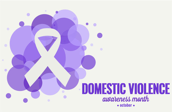 Domestic violence awareness month card or background. vector illustration.