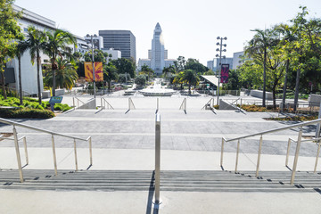 Grand Park and City Hall in Los Angeles, Los Angeles, California
