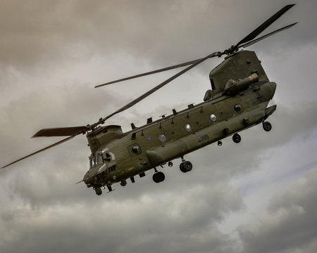 Chinook Helicopter takes off