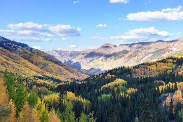 Beautiful and Colorful Colorado Rocky Mountain Autumn Scenery