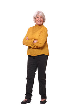Full body older woman