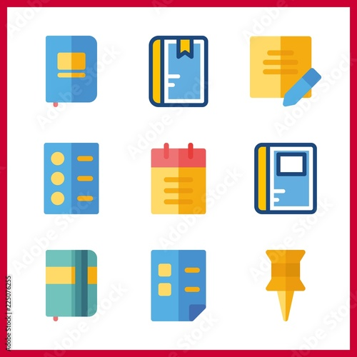 notepad icon  list and notebook vector icons in notepad set  Use