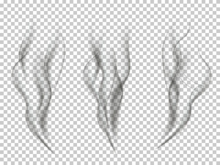 Smoke effect set. Vector smoke effects isolated on transparent background.