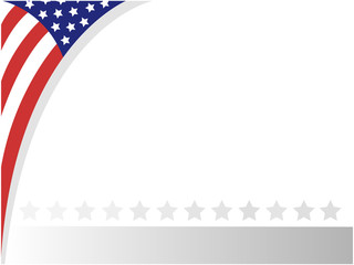 USA abstract flag border with empty space for your text.