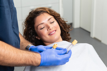 Platelet rich plasma ( PRP) therapy process.