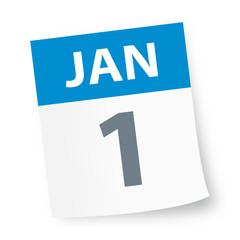 January 1 - Calendar Icon