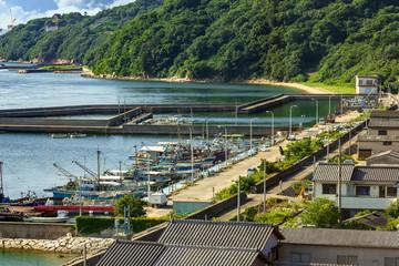 倉敷下津井の漁港と漁村