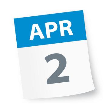 April 2 - Calendar Icon