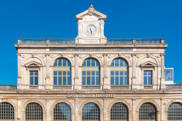 Aluminium Prints Train Station Lille, station of Lille-Flandres, facade