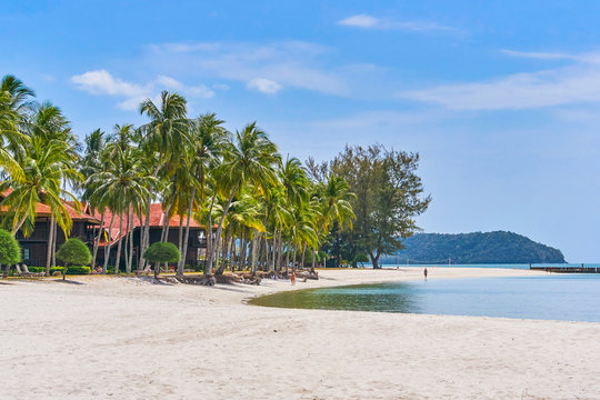 Cenang Beach in Langkawi island, Malaysia