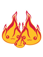 kind baby junges familie 2 freunde team paar liebe pärchen verliebt gesicht süß niedlich klein comic cartoon feuer flamme heiß brennen warm lagerfeuer flammen feuerteufel