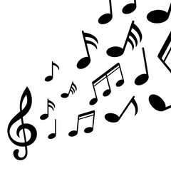 Music notes, black group musical notes – for stock