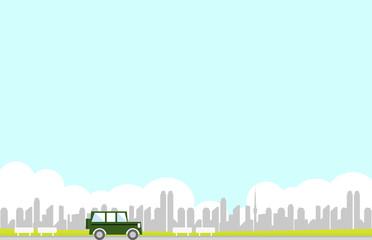 ドライブ 都市背景