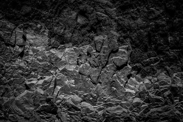 abstract black rock background, natural  stone texture Fotoväggar