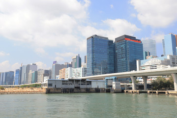 a Kwun Tong  city scape water front panorama