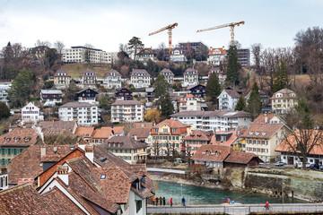 Aare river in Bern, Switzerland