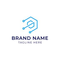 Initial Letter S Hexagon Logo