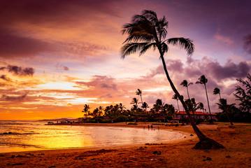 夕方の海,  The Sunset in Hawaii